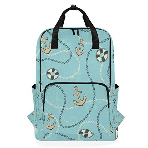 ons-Rucksack mit nautischem Ankermotiv, für Schule, Büchertasche, Wandern, Reisen, Tagesrucksack ()