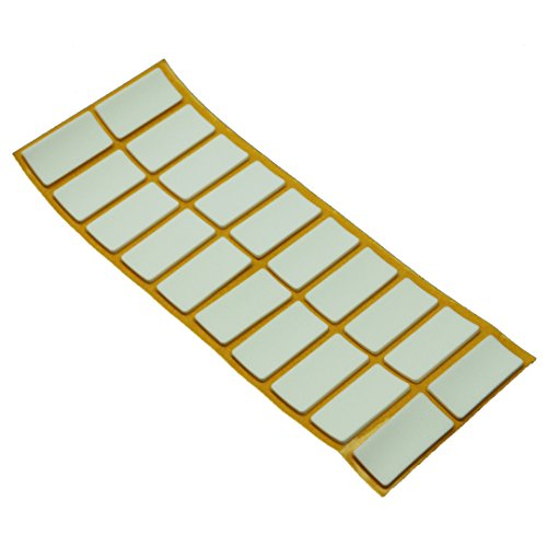 20 x Antirutsch Pads aus EPDM / Zellkautschuk | rechteckig | 20x40 mm | Weiß | selbstklebend | Rutschhemmende Pads inTop-Qualität (2.5 mm)