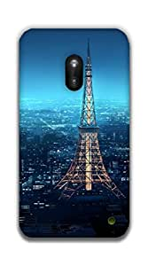 The Racoon Grip eiffel tower hard plastic printed back case / cover for Nokia Lumia 620