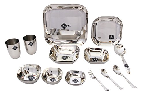 Coconut Stainless Steel Square Dinner Set - 23pc  available at amazon for Rs.2249