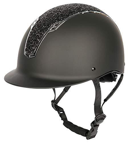 Harry\'s Horse Sicherheits-Reithelm Reitkappe Centaur NXT (S-M, schwarz-Silber)