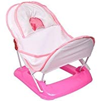 Toyboy Deluxe Baby Bather with Removable Head Support Cushion Infant Bath Aid Todler (Pink)