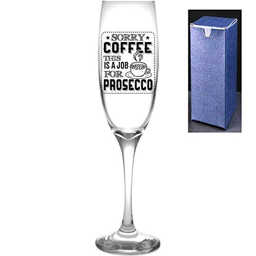 fantaisie gravé/imprimé Prosecco Flûte à champagne – Sorry Café, il s'agit d'une tâche pour Prosecco, Noir, Engrave A Personal Message On The Reverse Side