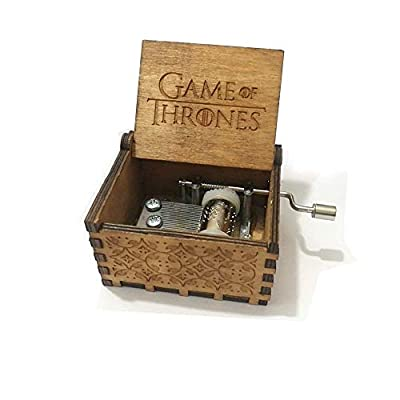 XIN-JI Pure Hand Classic Game of Thrones Music Box Hand Wooden Music Box Creative Wood Craft Best Gifts