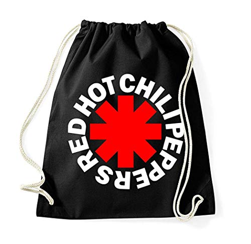 (Youth Designz Turnbeutel Beutel Tasche Rucksack Jutebeutel Sportbeutel Modell Red Hot Chili Peppers)