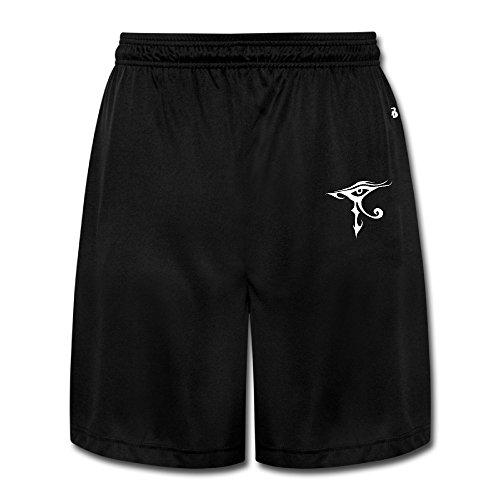 texhood Herren Cool Eye Of Horus Basketball Sport Shorts, Herren, (Party Phoenix Supplies)