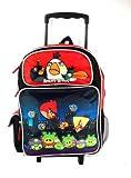 Full Size Night Leve Angry Birds Pajaros Enojados Rolling Mochila Maleta con Ruedas