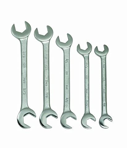 Williams 3780 5-Piece Double Open End Wrench Set by Snap-on Industrial Brand JH Williams