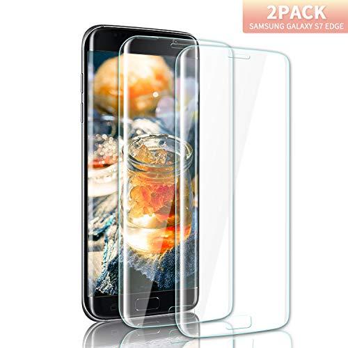 Youer Galaxy S7 Edge Verre Trempé Couverture Complète, 3D en Verre Trempé  écran Protecteur Vitre, Dureté 9H, Ultra Résistant, Anti Rayures Glass