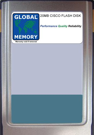 Flash-speicher 7500 Series (20MB FLASH CARD SPEICHER FÜR CISCO 7500SERIES ROUTERN ROUTE SWITCH PROCESSOR 8(mem-rsp8-flc20m))