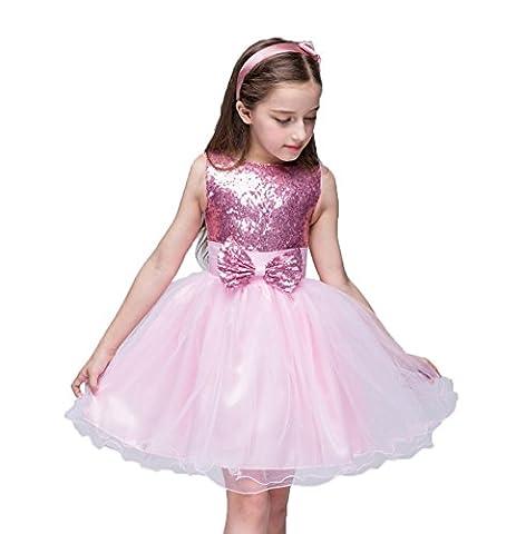 VERCART Robe de Mariage Enfant Fille Princesse Girl Wedding Dress