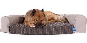 Silentnight Luxury Pocket Sprung Dog Bed, Mattress Liner & Bolster Set (Medium) Cord Graphite
