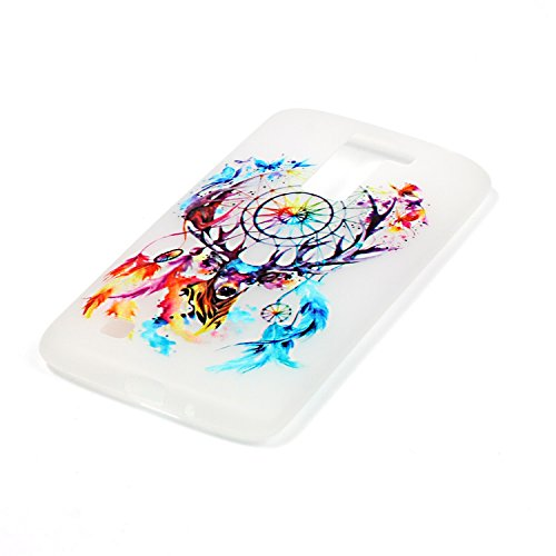 CaseHome LG K10 Luminous Hülle (Mit Frie Displayschutzfolie) Leuchtende Silikone Rückhülle Für iPhone 6 6s Plus 5.5 Zoll Zoll Silikon Etui Handy Hülle Weiche Transparente Luminous TPU Back Case Tasche Bunte Traumfänger