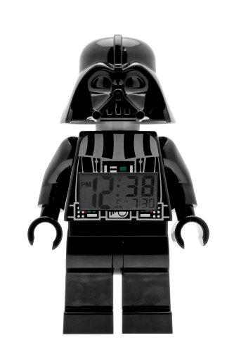 Foto de LEGO Despertador con luz Infantil con Figurita de Darth Vader 9002113 Star Wars|Negro/Gris|Plástico|24 cm de Altura|Pantalla LCD|Chico Chica|Oficial