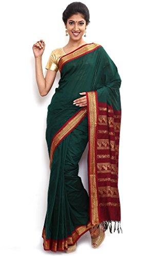 Sudarshan Silks South Karantaka Span Cotton Silk Saree [SBTI9_Green]