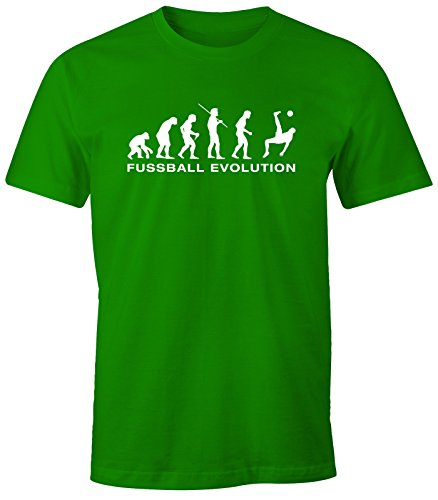 Herren T-Shirt - Fußball Fussball Evolution - Comfort Fit MoonWorks® Grün