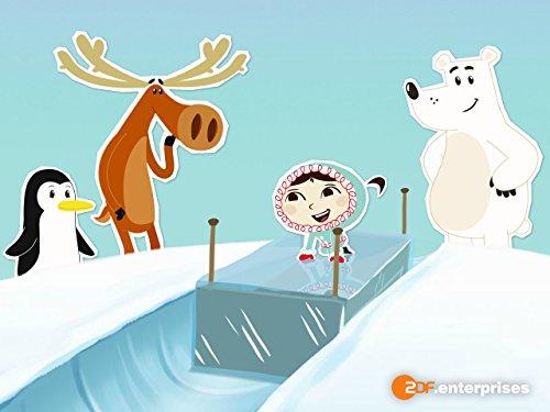 Schlittenfahrt auf Nordpol-Art (Nordpol-film)