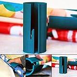 farmer-W Weihnachten Geschenkpapier Cutter Wrapper Trimmer, Tragbare Utility Mini Cutter Tube Schiebe Linie Rolle für Weihnachten Geschenkpapier, Weihnachten Paket Kartonpapier