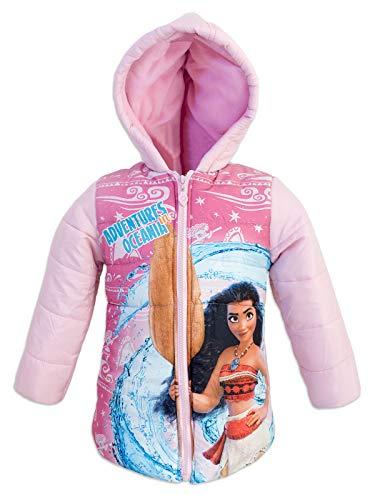 Vaiana disney parka giacca giaccone giubbotto piumino sintetico - bambina ragazza - inverno - cappuccio rivestito in pile - prodotto ufficiale 99648225 [rosa - 2 anni - 92 cm]