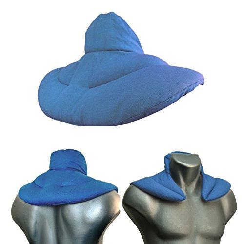 Nackenhörnchen mit Stehkragen hellblau | Rapssamenkissen | Nackenkissen Wärmekissen - Ein sehr wohliger Nackenwärmer
