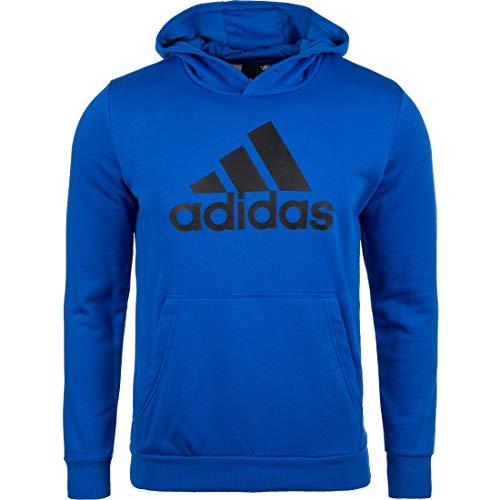 adidas Jungen Logo Hood Kapuzen-Sweatshirt, Blue/Black, 164