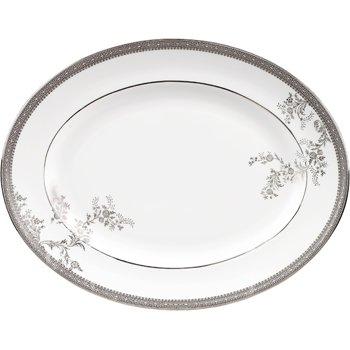 Vera Wang Lace Platinum Oval Dish 39cm (Oval Wedgwood Dish)