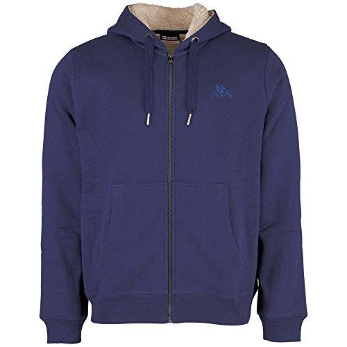 Kappa-Felpa Zip Vartan Hooded Sweat giacche, Uomo, Sweat Zip Vartan Hooded Sweatjacket, blu, XXL