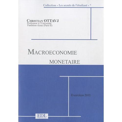 Macroéconomie monétaire : Exercices corrigés