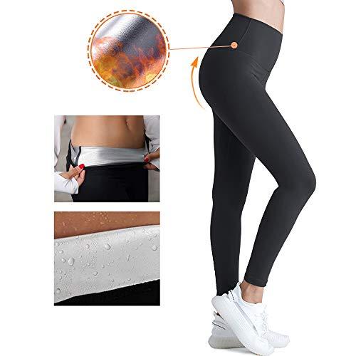 YuDy Gewichtsverlust Hosen Sauna Hosen, Schwitzhose für Frauen Fettverbrennung, Womens abnehmen Hosen Hot Thermo Neopren Sweat Sauna (L)