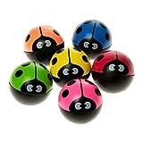 12 x Flummi Ball Marienkäfer Springball Mitgebsel Kindergeburtstag