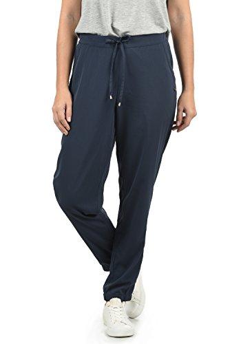 BlendShe Amerika Damen Stoffhose Lange Hose Bequeme Loose Fit Hose, Größe:XS, Farbe:Mood Indigo (20064)