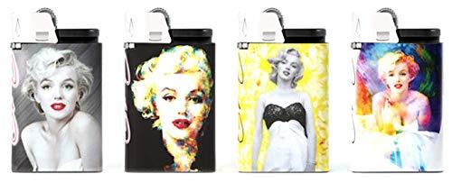 djeep Feuerzeug Marilyn Monroe Series 4Pack