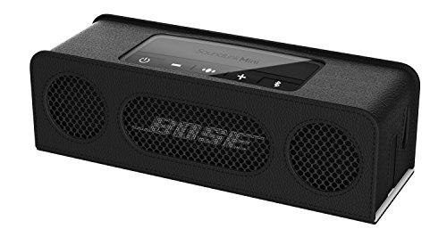 MoKo Etui pour Bose Enceinte Bluetooth SoundLink Mini II,Prime Végétalien PU Cuir Protégeable Peau Protecteur Manches Pour Bose SoundLink Mini II Bluetooth Plus Haut-Parleur, Noir