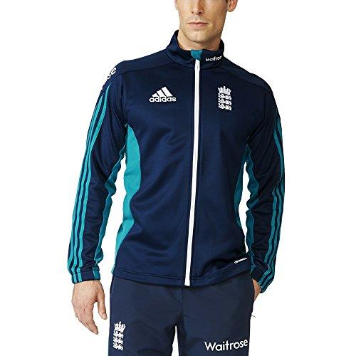 adidas Herren Trainingsjacke ECB England Cricket Replica Fleece, Eqtgrn, 11, AH4600 (England Adidas Training)