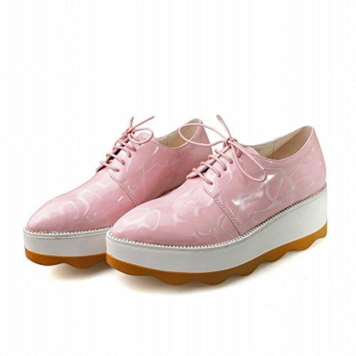 MissSaSa Donna Scarpe col Tacco Zeppa Metà Fashion Shoes Rosa