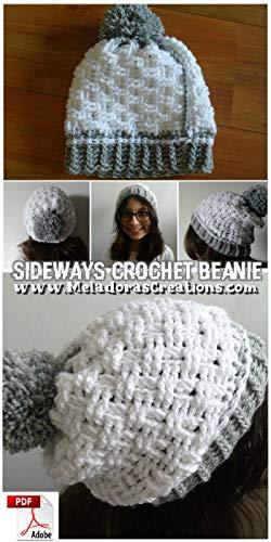 Crochet Sideways Beanie Basketweave stitch (English Edition)