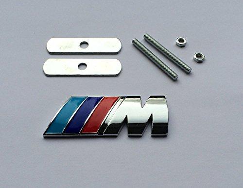 BMW M Power Sport Tech Paket front Metall Chrom Gitter Grill Badge Emblem Logo