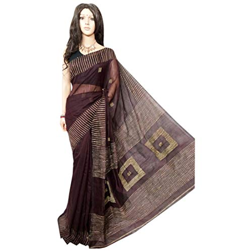 Cyber   Monday special Indian Handloom Sari Designer Zari opera Women Drape Saree Marrone 108A