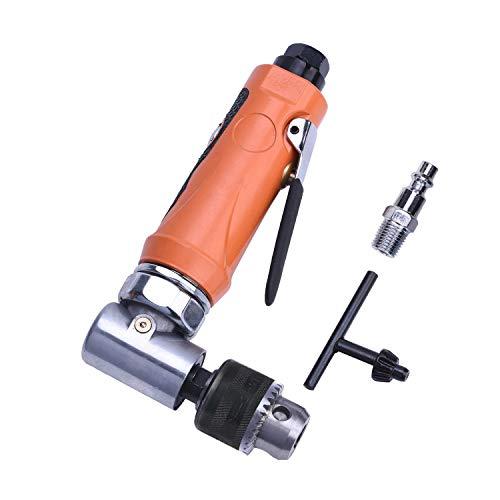 """Promocion Taladros angulares,Máquina de perforación en ángulo Aire comprimido 0.6-6 mm (1/4""""), Velocidad de ralentí: 18000 rpm, taladro angular Mini ángulo recto naranja"""