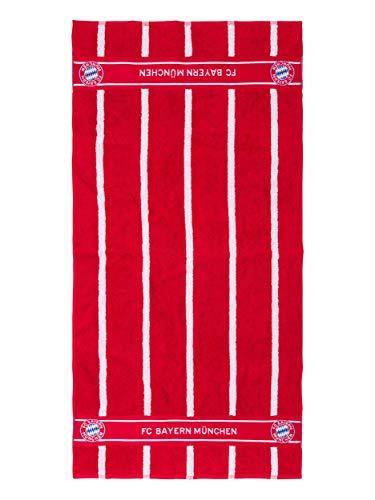 FC Bayern München Duschtuch, offizielles Handtuch rot-weiß für FCB Fans, 140x70 cm