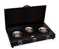 Magna Homewares 3 Burners Gas Stove with Cover-Black