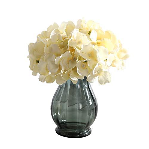 Veryhome, fiore di ortensia in seta per bouquet fai da te, centrotavola da cerimonia e decorazioni casalinghe light yellow