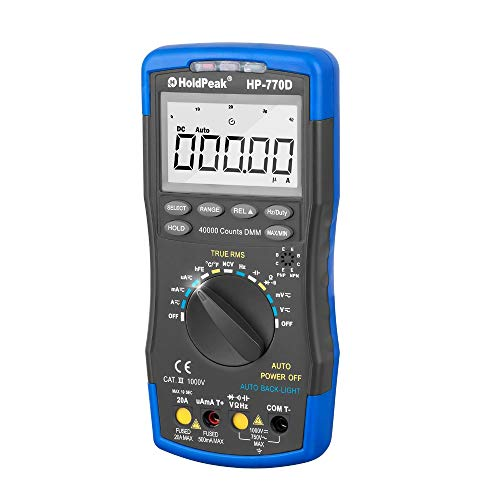 HoldPeak HP-770D Digitales Multimeter, 40000 Counts True RMS Digitales Multimeter, hohe Präzision, Auto Range Duty Cycle Ohm