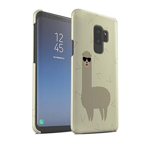 Stuff4® Matte Snap-On Hülle/Case für Samsung Galaxy S9 Plus/G965 / Coole Sonnenbrille Muster/Karikatur Alpaka Kollektion