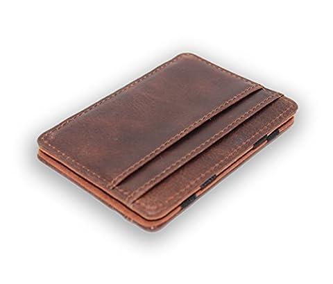 'Magic Carte de crédit étui | Premium Wallet | Support de carte de crédit en cuir pour hommes avec un
