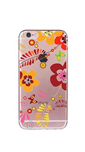 Case Cover Per iphone 6 6S 4.7 pollici Trasparente TPU Gel Silicone Bumper Protettivo Skin Custodia Ultra-sottile Flessibile morbido Protettiva Shell(ananas) fiore