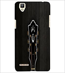 PrintDhaba Tuning Keys D-5501 Back Case Cover for OPPO F1 (Multi-Coloured)