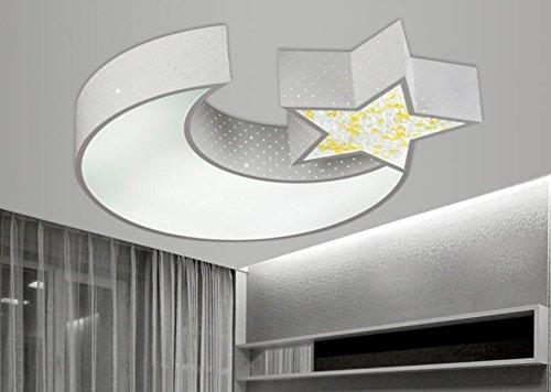 Lyxg lampada da soffitto led luci ragazzi e ragazze luna stelle