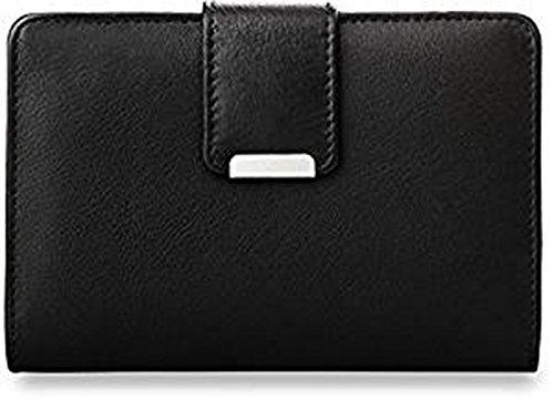 praktisches Damen - Portemonnaie Leder - Geldbörse (schwarz)