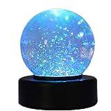 Playlearn Swgb glitter Ball palla di neve con LED cambia colore luce d' atmosfera